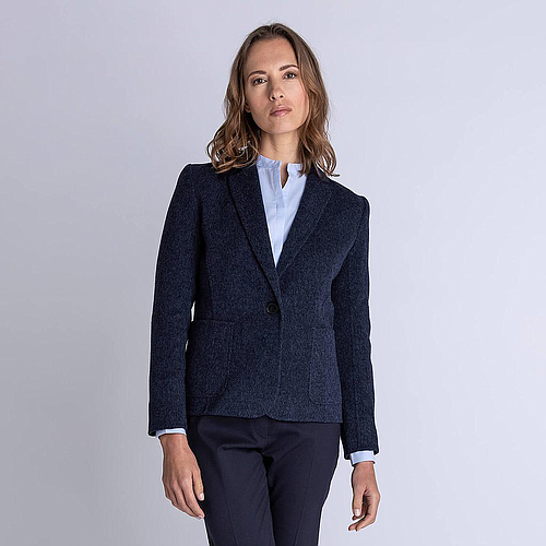 Double Face Blazer Blue Woman